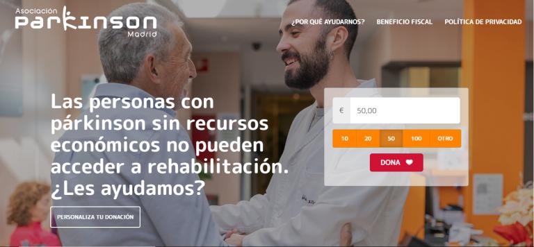 Ya está online la Landing Page UX de Asociación Parkinson Madrid